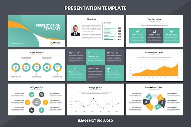 Business presentation  infographic element template Premium Vector