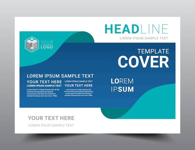 business presentation layout design template a4 size vector
