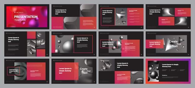 Business presentation layout design template Premium Vector