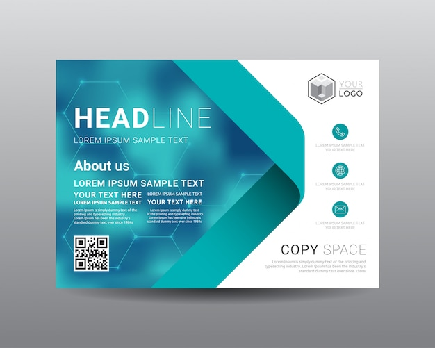 Business presentation layout design template. Premium Vector
