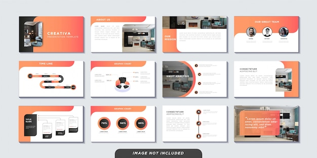 Business presentation pages template Premium Vector