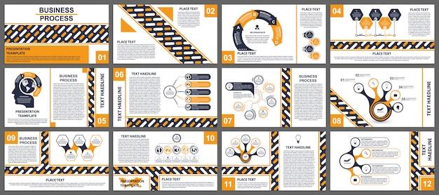 Business presentation templates. Premium Vector