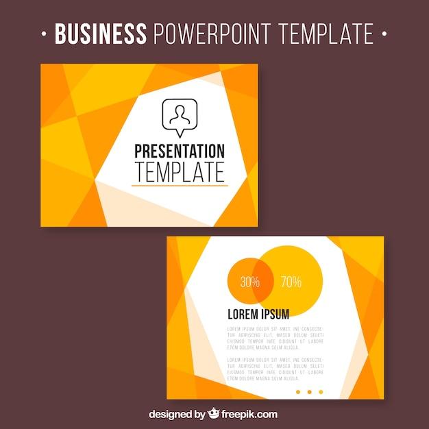 Business presentation with orange geometric shapes vector premium business presentation with orange geometric shapes premium vector toneelgroepblik Gallery