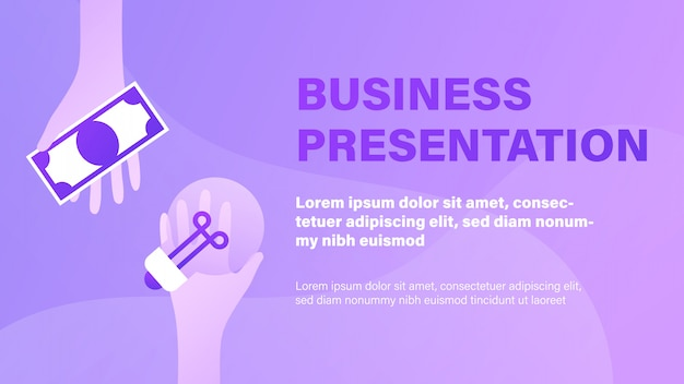 Бизнес презентация Premium векторы