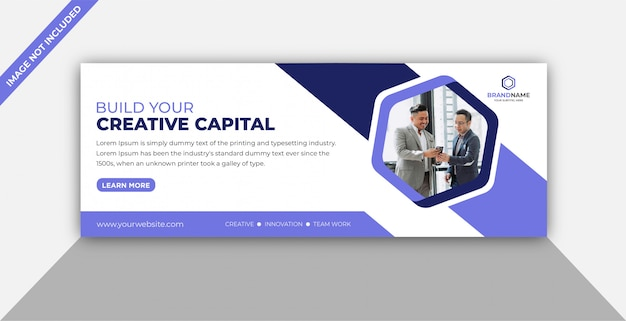 Business promotion facebook cover template Premium Vector