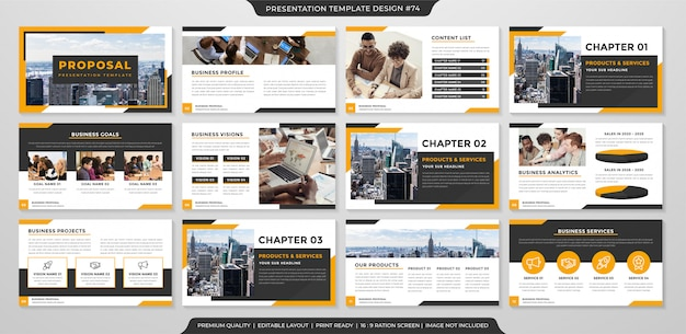 Business proposal template with premium style Premium Vector