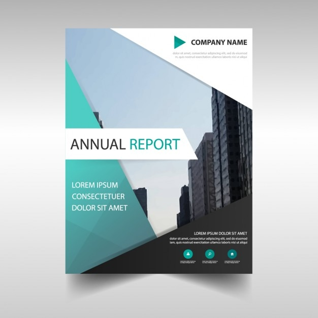 Business Report Template In Abstract Design Vector | Free Download