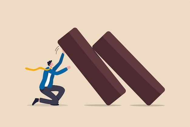 Устойчивость бизнеса, гибкость, стремление выжить и выдержать экономический кризис Premium векторы