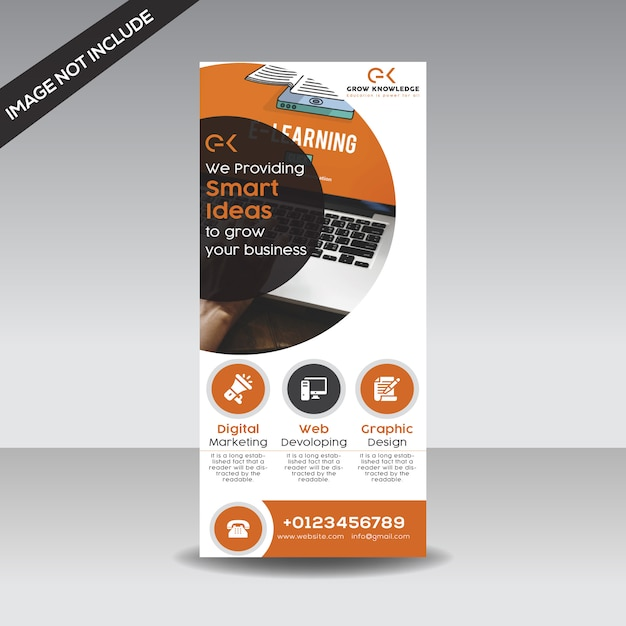 Business roll up banner Premium Vector