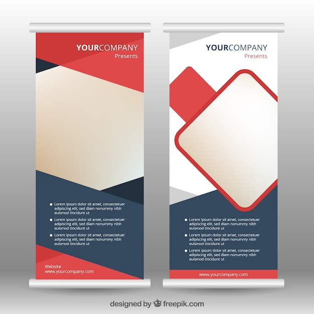 Business roll up with abstract design vector free download business roll up with abstract design free vector malvernweather Images