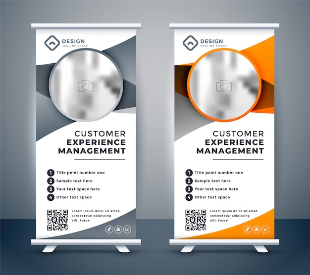Business rollup banners for marketing Free Vector