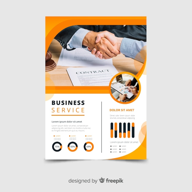 Business service flyer template Free Vector