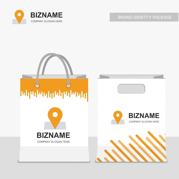 Business shopping bag Free Vector