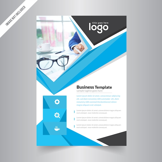 business simple abstract flyer design premium vector