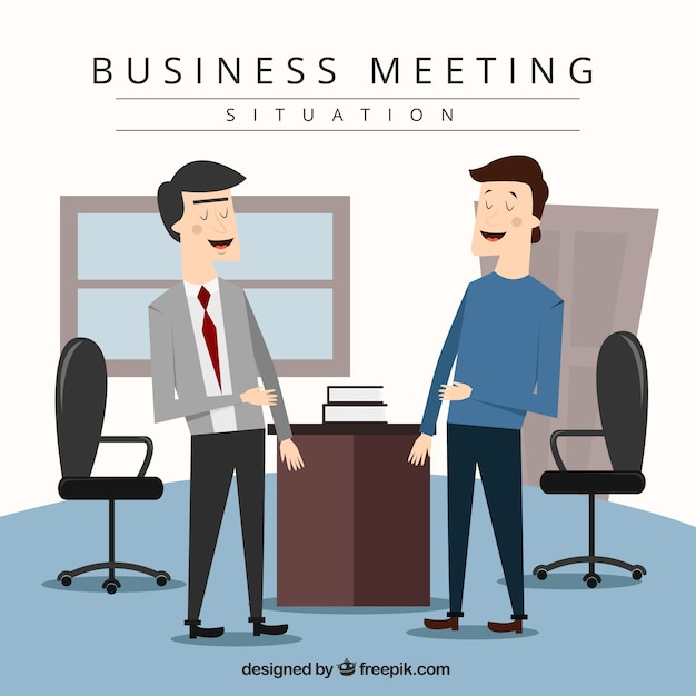 Business situation during a conversation