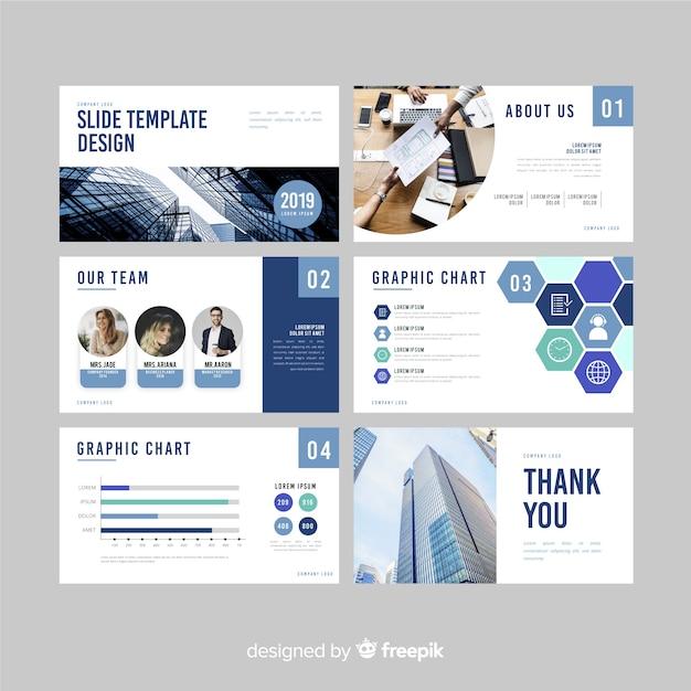Шаблон бизнес слайд презентации Бесплатные векторы