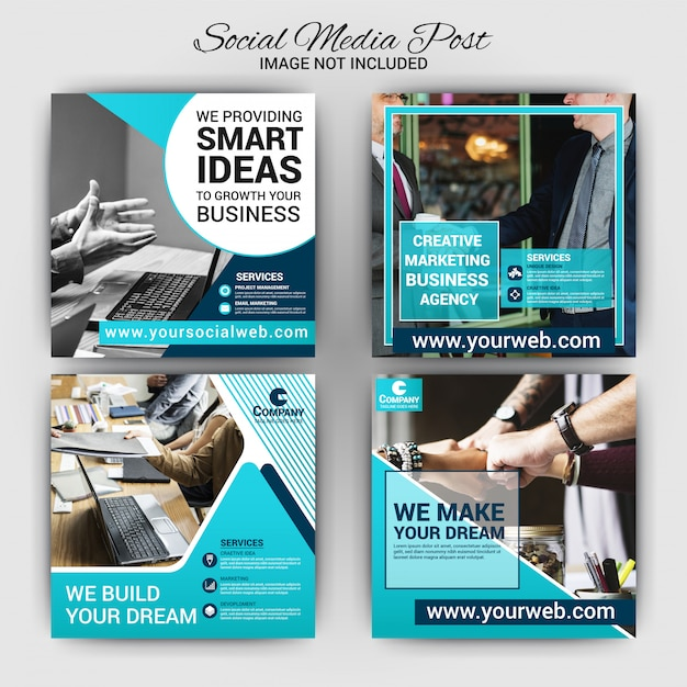 Business Social Media Post Template Premium Vector