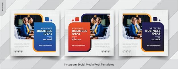 Business social media square post template Premium Vector