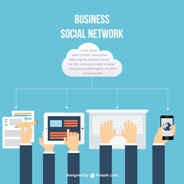 Business social network Vector   Free Download