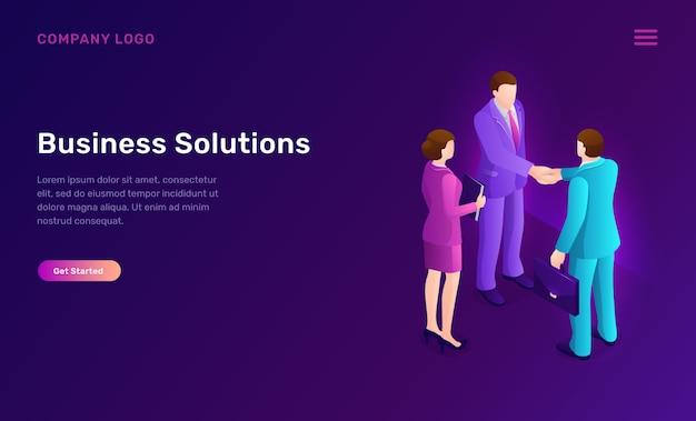ビジネスソリューションと契約等尺性概念 無料ベクター