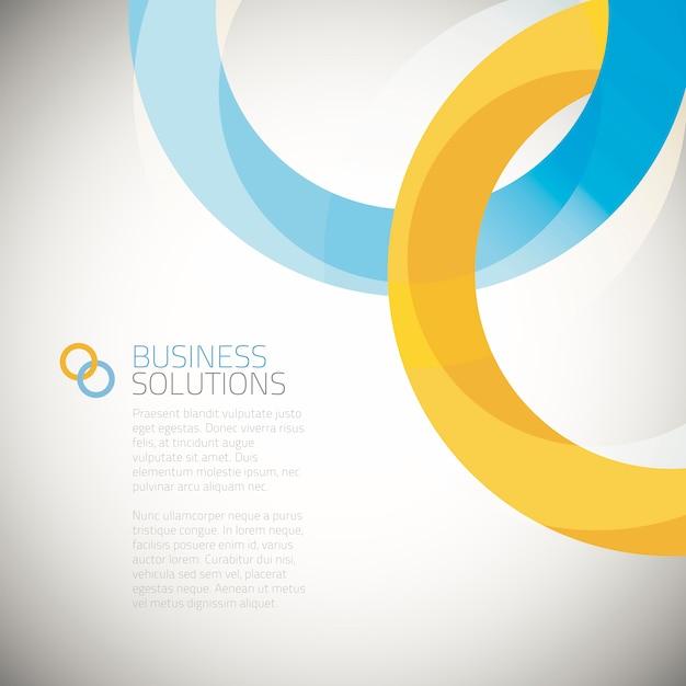 Business solution background vector Premium Vector
