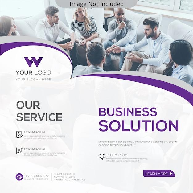 Business solution banner Premium Vector