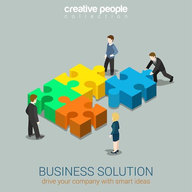 Бизнес-решение умная идея концепция плоская 3d веб Premium векторы