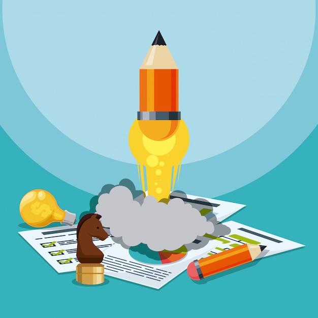 Business start up design. | Premium Vector