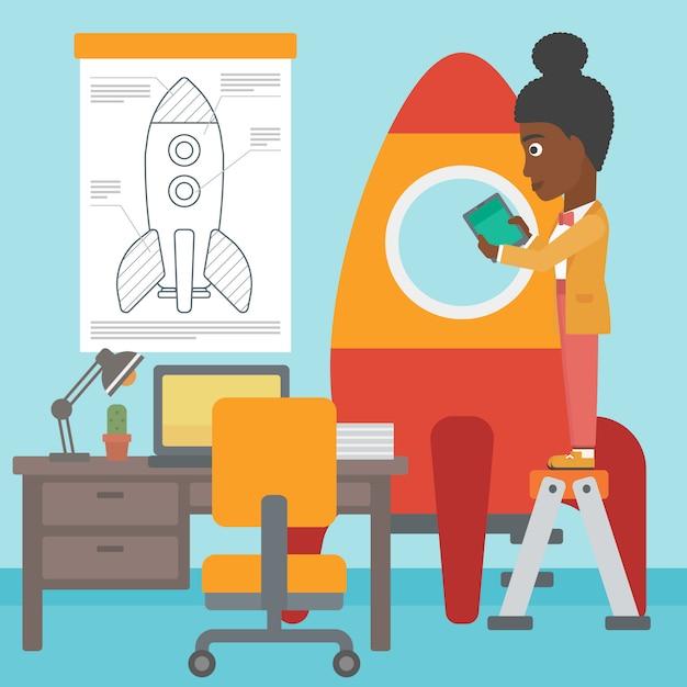 Business start up vector illustration. Premium Vector