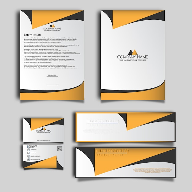 Business Stationery Design Vector Premium Download