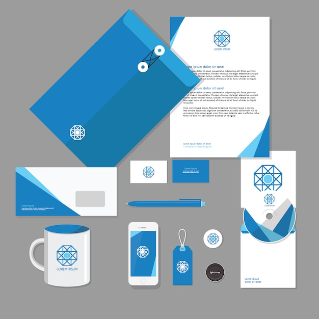 Business stationery template vector free download business stationery template free vector cheaphphosting Image collections