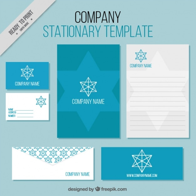 Business stationery templates with geometric star vector free download business stationery templates with geometric star free vector friedricerecipe Images