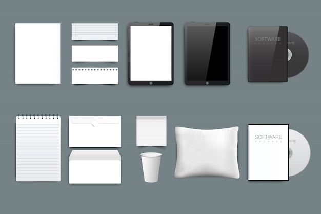 Business stationery Premium Vector