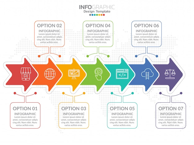 Business step process chart infographics with step. Premium Vector