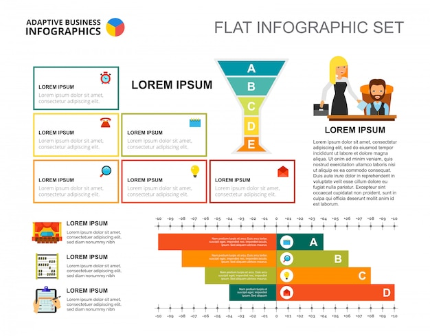 business strategy bar chart template for presentation vector free