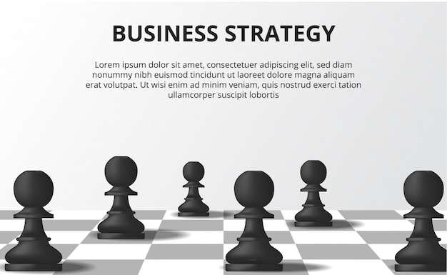 Business strategy concept Premium Vector