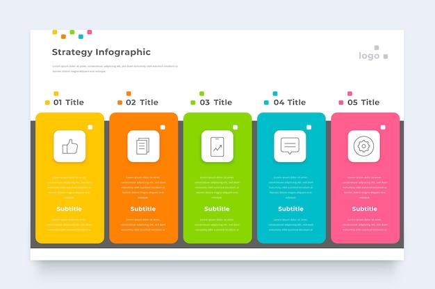 비즈니스 전략 Infographic 템플릿 프리미엄 벡터