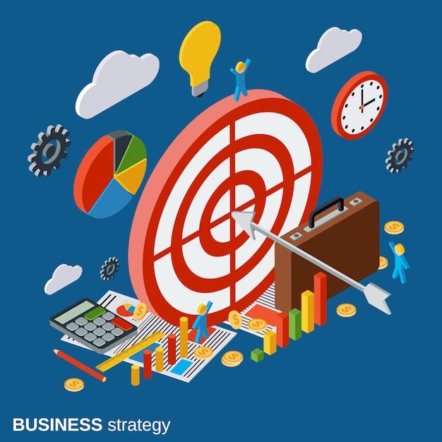Business strategy vector concept illustration Premium Vector