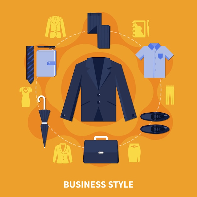 Business style composition Free Vector