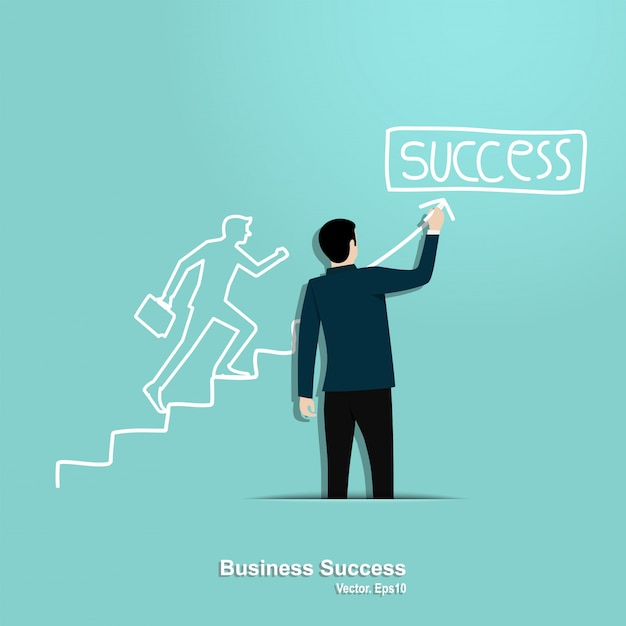 Business success concept Premium Vector