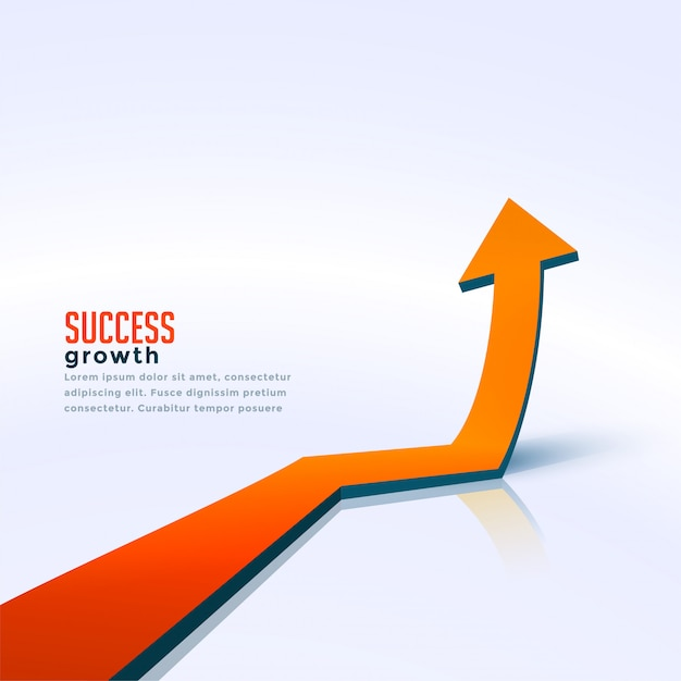 Business success growth arrow moving upward background Free Vector