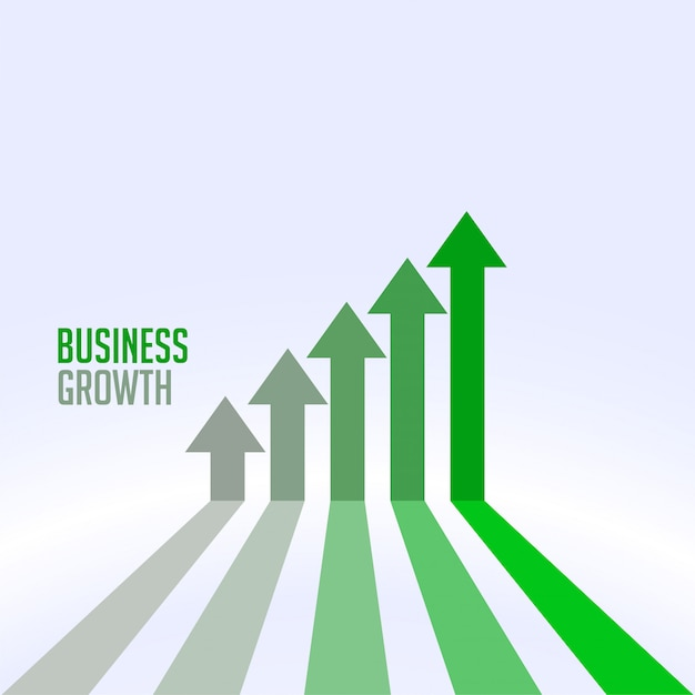Business success and growth chart arrow concept Free Vector