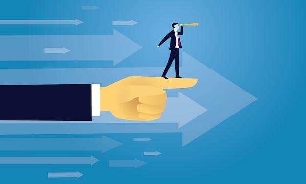 Premium Vector | Business success moving forward concept