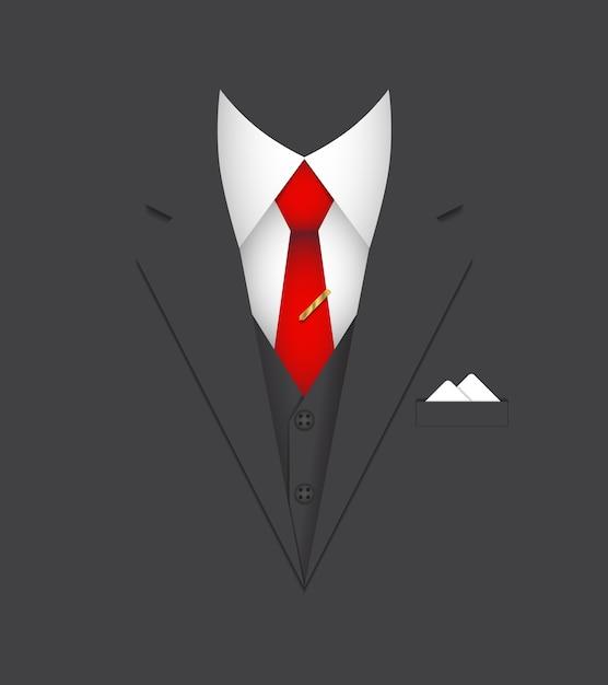 ビジネススーツリーダー人概念ベクトル図 無料ベクター