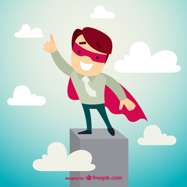 Business superhero character Free Vector