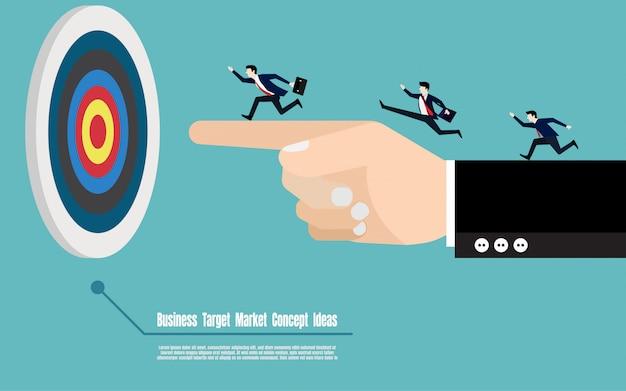 Business target marketing concept Premium Vector