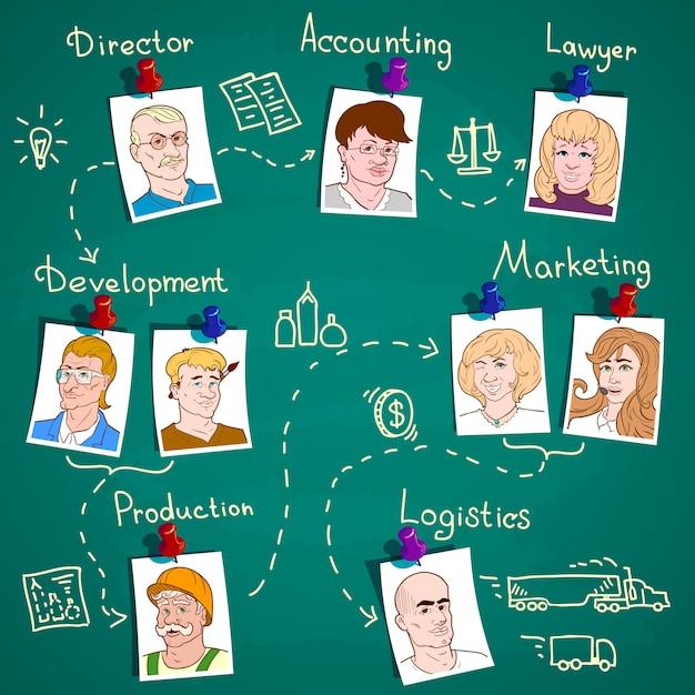 Infografica della squadra di affari Vettore gratuito