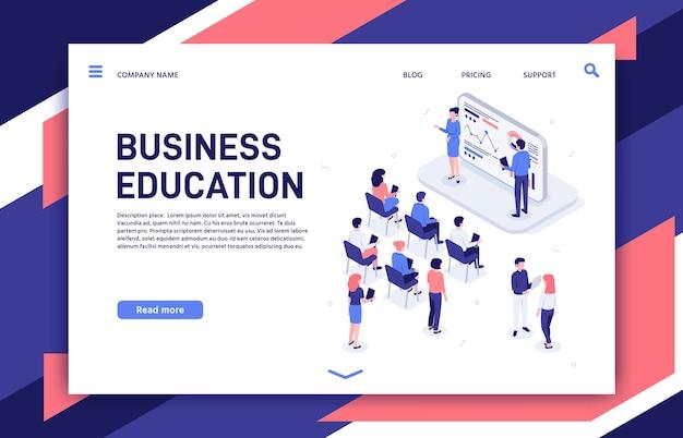 Business team professional education trainings, teambuilding teacher and motivation lecture. Premium Vector
