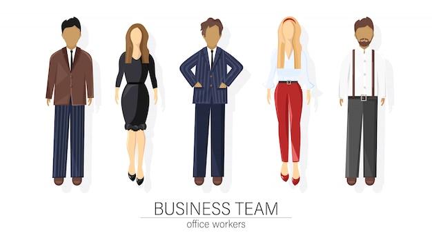 Business team set people Premium Vector