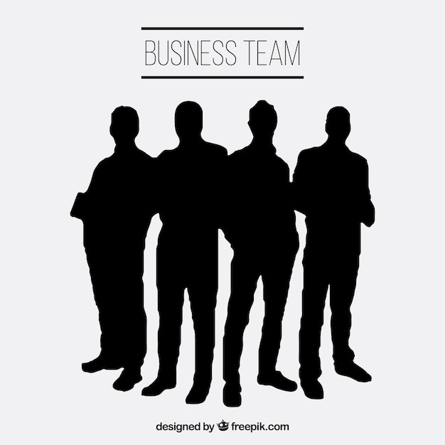 Business Team Silhouettes Vector Free Download